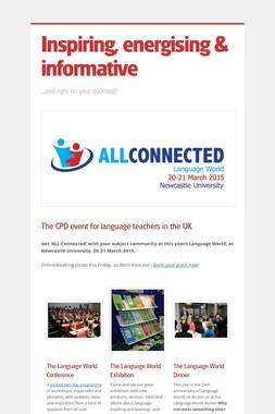 Inspiring, energising & informative