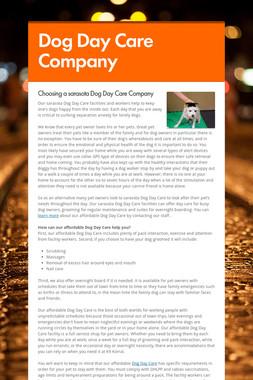 Dog Day Care Company