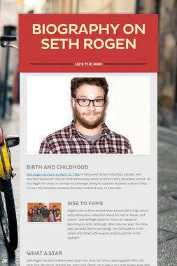 Biography on Seth Rogen
