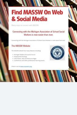 Find MASSW On Web & Social Media
