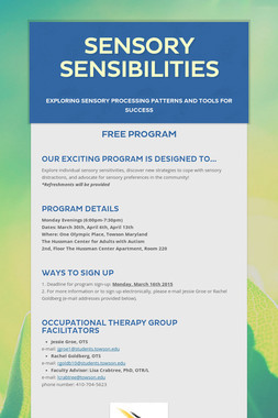 Sensory Sensibilities