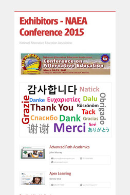 Exhibitors - NAEA Conference 2015