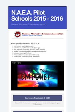 N.A.E.A. Pilot Schools 2015 - 2016