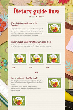 Dietary guide lines