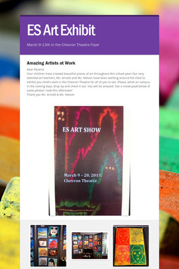 ES Art Exhibit