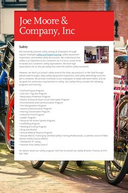 Joe Moore & Company, Inc