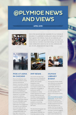@PlymIOE News and Views