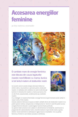 Accesarea energiilor feminine
