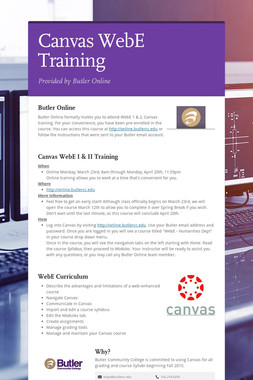 Canvas WebE Training
