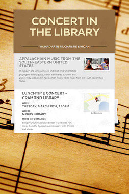 Concert in the Library