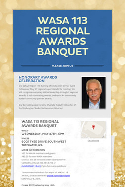 WASA 113 Regional Awards Banquet
