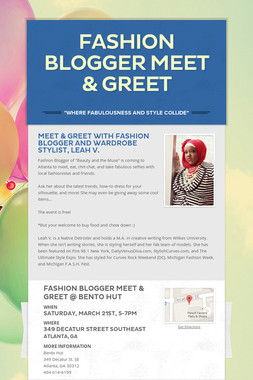 Fashion Blogger Meet & Greet
