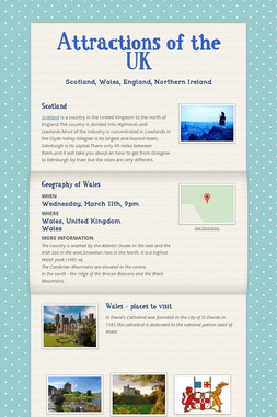 Attractions of the UK