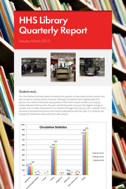HHS Library Quarterly Report