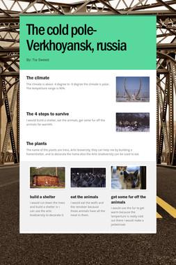 The cold pole-Verkhoyansk, russia
