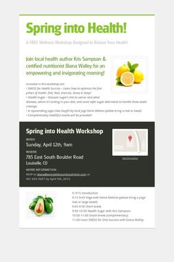Spring into Health!