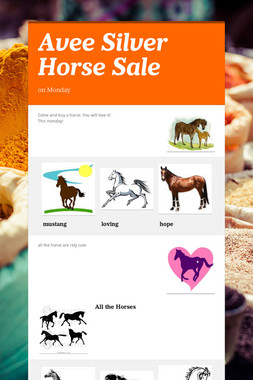 Avee Silver Horse Sale