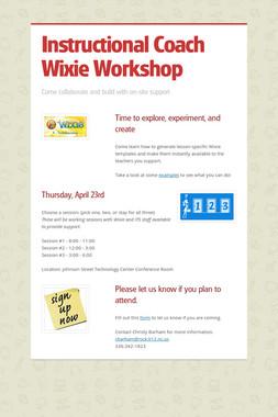 Instructional Coach Wixie Workshop