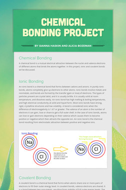Chemical Bonding Project
