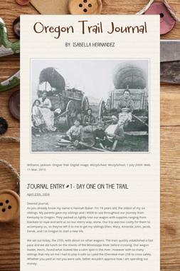 Oregon Trail Journal