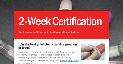 2-Week Certification | Smore Newsletters
