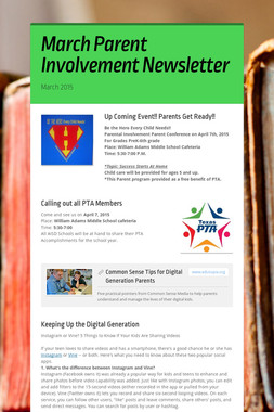 March Parent Involvement Newsletter