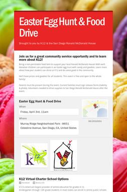 Easter Egg Hunt & Food Drive
