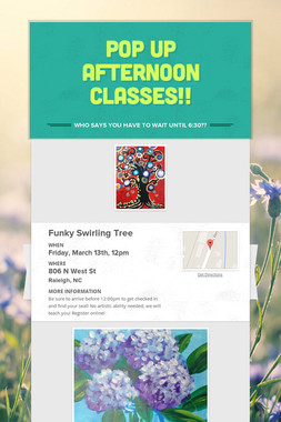 Pop Up Afternoon Classes!!