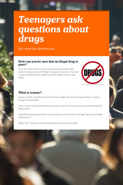Teenagers ask questions about drugs