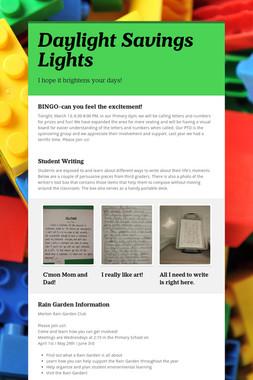 Daylight Savings Lights