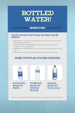 Bottled Water!