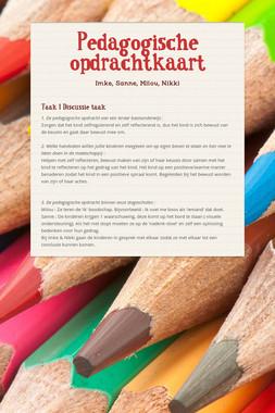 Pedagogische opdrachtkaart