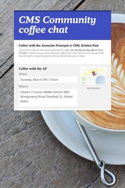 CMS Community coffee chat
