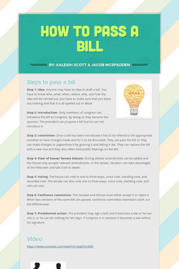 How to pass a bill