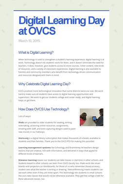 Digital Learning Day at OVCS
