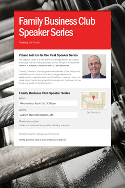 Family Business Club Speaker Series