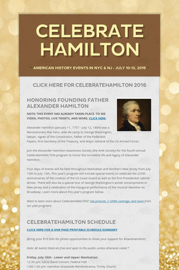 Celebrate HAMILTON