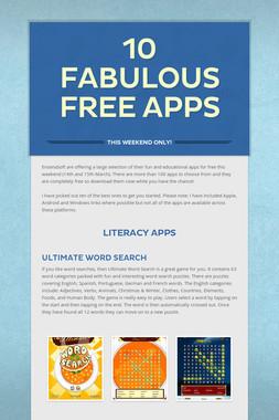 10 fabulous Free Apps