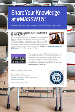 Share Your Knowledge at #MASSW15!