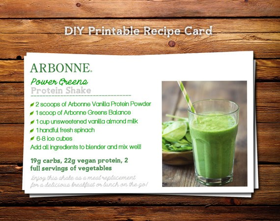 Power Greens Protein Shake