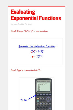 Evaluating Exponential Functions