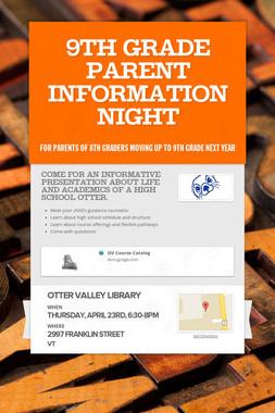9th Grade Parent Information Night