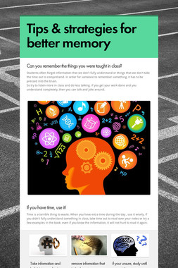 Tips & strategies for better memory