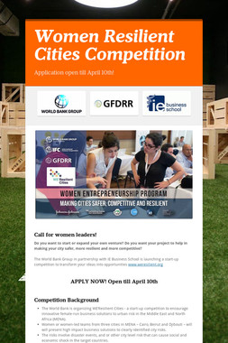 Women Resilient Cities Competition
