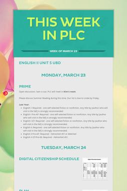This Week in PLC