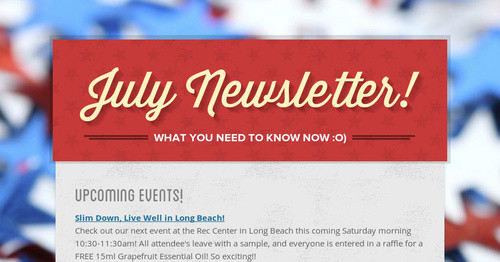 july newsletter! | smore newsletters