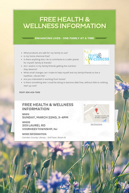 FREE Health & Wellness Information