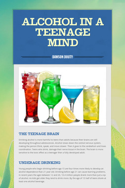Alcohol In A Teenage Mind
