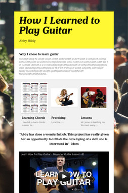 How I Learned to Play Guitar