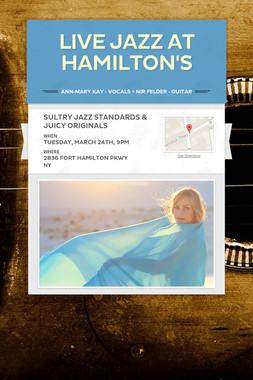 Live Jazz at Hamilton's